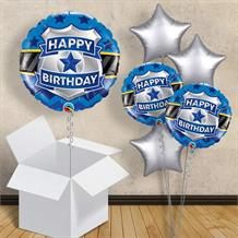 "Police Badge Happy Birthday 18"" Balloon in a Box"