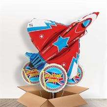 Fighter Jet | Plane Giant Shaped Balloon in a Box Gift