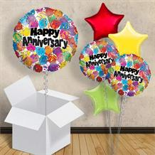"Happy Anniversary Dots 18"" Balloon in a Box"