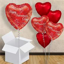 "Happy Valentines Day Heart 18"" Balloon in a Box"