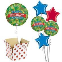 "Camouflage Happy Birthday To You 18"" Balloon in a Box"