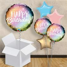 "Metallic Pastel Happy Birthday 18"" Balloon in a Box"