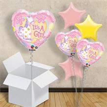 "It's a Girl Pink Pony | Baby Shower 18"" Balloon in a Box"