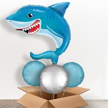Smiling Shark Giant Shaped Balloon in a Box Gift