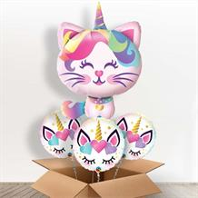 Magical Caticorn | Unicorn Giant Shaped Balloon in a Box Gift