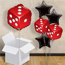 "Casino Dice Shaped 18"" Balloon in a Box"