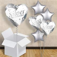 "Silver Wedding 25th Anniversary 18"" Balloon in a Box"