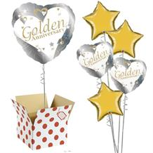 "Golden Wedding 50th Anniversary 18"" Balloon in a Box"
