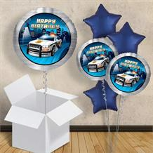 "Police Happy Birthday 18"" Balloon in a Box"