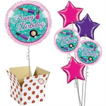"Sparkle Spa Happy Birthday 18"" Balloon in a Box"