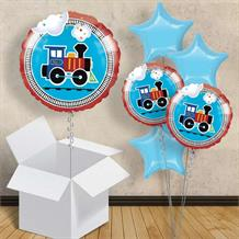 "Train All Aboard 18"" Balloon in a Box"