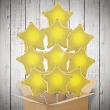 Gold Stars Inflated Foil Bunch of Balloons