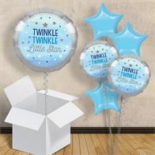 "Blue Twinkle Star 18"" Balloon in a Box"