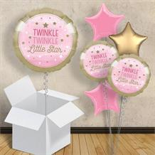 "Pink Twinkle Star 18"" Balloon in a Box"
