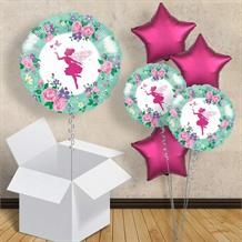 "Floral Fairy Sparkle 18"" Balloon in a Box"