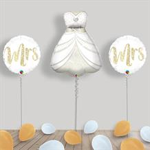 Inflated Bride Wedding Day Helium Balloon Package in a Box