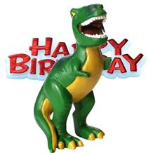 Dinosaur Happy Birthday Resin Cake Topper | Decoration