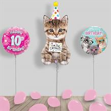 Inflated Cats | Kittens Birthday Helium Balloon Package in a Box