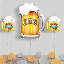 Inflated Cheers Beer Glass Helium Balloon Package in a Box