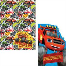 Blaze and The Monster Machines Giftwrap, Gift Tags and Birthday Card