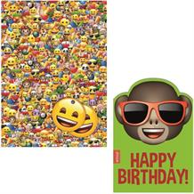 Emoji Giftwrap, Gift Tags and Monkey Shades Birthday Card