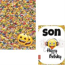 Emoji Giftwrap, Gift Tags and Son Birthday Card