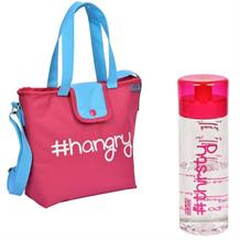 Polar Gear Pink #hangry School Lunch Bag and Pink Bottle Kit