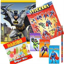 Batman Ready Filled Party Bag with Sweets, Stickers + 2 Favours