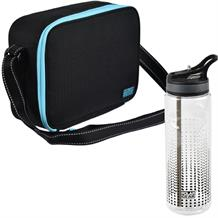 Polar Gear Active Blue Optic Dot Munich Personal Lunch Cooler Bag and Bottle Kit
