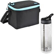 Polar Gear Active Blue Optic Dot Personal Lunch Cooler Bag and Bottle Kit
