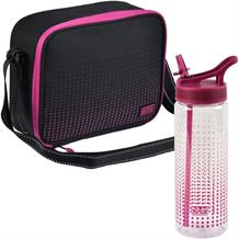 Polar Gear Active Pink Optic Dot Munich Personal Lunch Cooler Bag and Bottle Kit