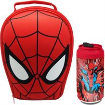 Ultimate Spiderman 3D Insulated Lunch Bag and Can Drink Bottle Kit