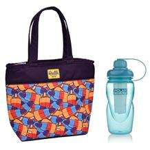 Walls Ice Cream Starship Insulated Lunch Tote Cooler Bag and Aqua Freeze Bottle Kit
