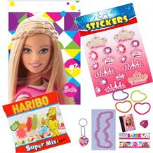 Barbie Filled Party Bag Kit | Favours | Stickers | Sweets