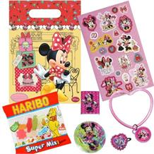 Minnie Mouse Cafe Filled Party Bag Kit | Favours | Stickers | Sweets