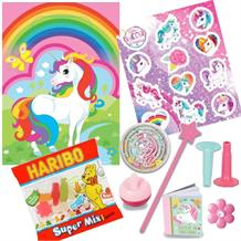 Unicorn Filled Party Bag Kit | Favours | Stickers | Sweets