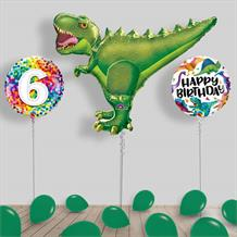Inflated Dinosaur Birthday Helium Balloon Package in a Box