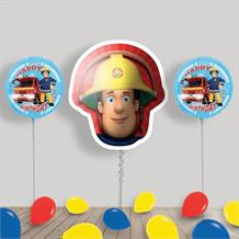 Inflated Fireman Sam Helium Balloon Package in a Box