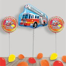 Inflated Fire Engine | Truck Helium Balloon Package in a Box