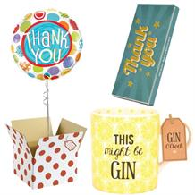 Thank You Balloon, This Might be Gin Mug and Chocolate Gift Bundle (Patterned)