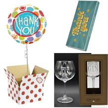 Thank You Balloon, Gin to my Tonic Mug and Chocolate Gift Bundle (Patterned)