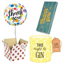 Thank You Balloon, This Might be Gin Mug and Chocolate Gift Bundle (Dots)