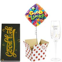 Good Luck Balloon, Prosecco Mug and Chocolate Gift Bundle (Stars)