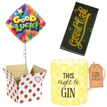 Good Luck Balloon, This Might be Gin Mug and Chocolate Gift Bundle (Stars)