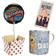 Happy Birthday Dad Balloon, Boofle Brilliant Mug and Chocolate Gift Bundle