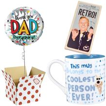 Thank You Dad Balloon, Boofle Coolest Mug and Chocolate Gift Bundle