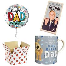 Thank You Dad Balloon, Boofle Brilliant Mug and Chocolate Gift Bundle