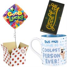 Good Luck Balloon, Boofle Coolest Mug and Chocolate Gift Bundle (Stars)