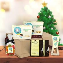 The Coffee with Treats Medium Christmas Hamper Gift Box by Timmy's Treats