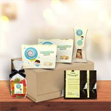 The Coffee with Treats Medium Hamper Gift Box by Timmy's Treats
